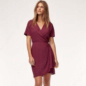 Aritzia Babaton Wallace Dress Maroon Size XXS